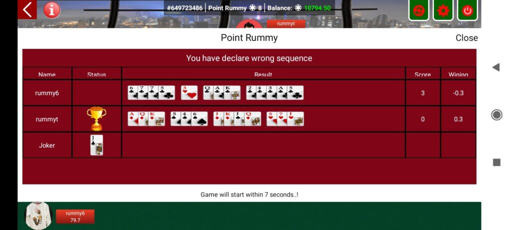 point pool deal rummy