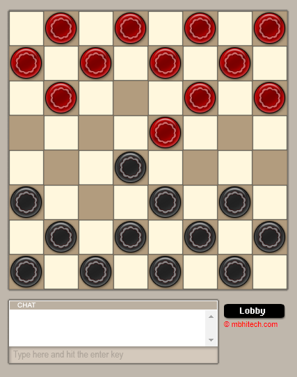 multiplayer checkers game